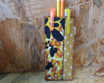 Leopard pen case
