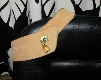 Vintage Natan suede and leather belt.