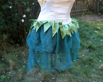 Adult Fairy Costume Faerie Bright Tulip Topper Fits Size 16-20 Hand Dyed One of a Kind for Alternative Weddings, Cosplay, Conwear, Festivals
