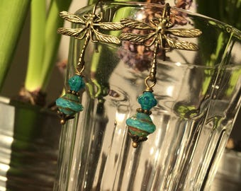 Earrings Dragonfly - dragonfly
