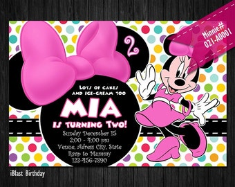 DIGITAL Minnie Invite for Minnie Mouse Birthday or Baby Shower - DIY Printable file