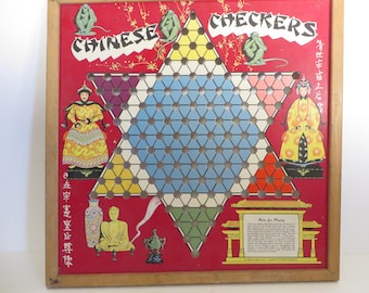Vintage Chinese Checkers Game Board - Whitman Publishing Co Chinese Checkers Board