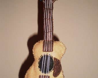 Felt Acoustic Guitar Ornament