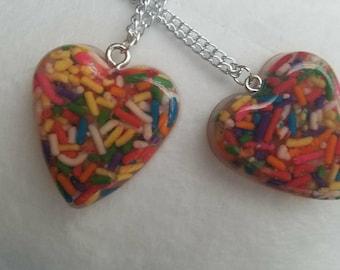 Sprinkles Resin Heart