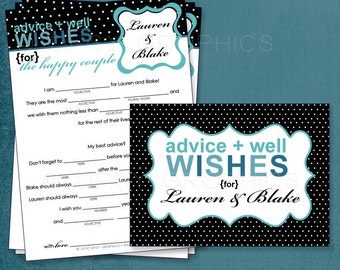 Black Polka Dots. Funny MadLibs. Sweet Advice. Baby Stats. By Tipsy Graphics. Printable Cards any colors