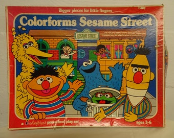 Colorforms Sesame Street Pre-School Play Set (Incomplete) - FREE SHIPPING