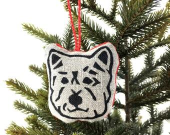 Westie Christmas Decoration