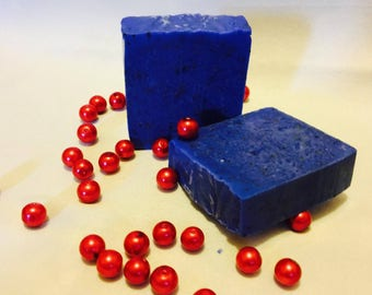 Blue Soap with Poppy Seeds