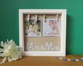 Mrs and Mrs Frame - Lesbian Wedding Gift - Lesbian Wedding - Lesbian Bridal Shower - Wedding Photo Frame - Wedding Frame - Wedding Gift