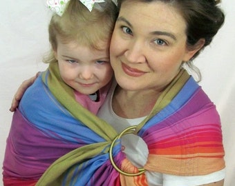 SALE Wrap Conversion, WCRS, Ring Sling, Baby Carrier Wrap Conversion - Little Frog, Fuschia Agate, DVD included