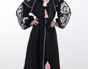 Embroidered Ukrainian Vyshyvanka Dress