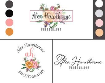 Premade Design, Premade Logo, Premade Logo Design, Photography Logo, Logos, Business Logos, Feminine Logo, Logo Brand, Custom Logos, Floral