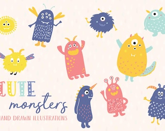 Cute Monsters Clip-art