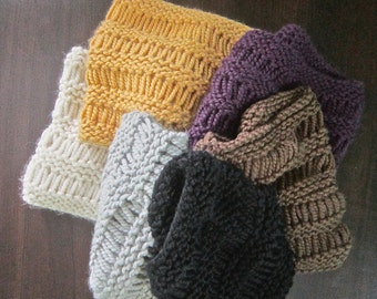 Knitted Cowl, Dropped Stitch Cowl, Knitted Scarf, Knitted Neck Warmer