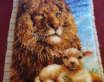 Lion and Lamb Rug/Wall Hanging