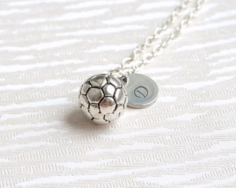 Personalized Soccer Ball Necklace, Soccer Necklace, Personalized Friendfsip Necklace, Best Friends Soccer Necklace, Best Friend Jewelry