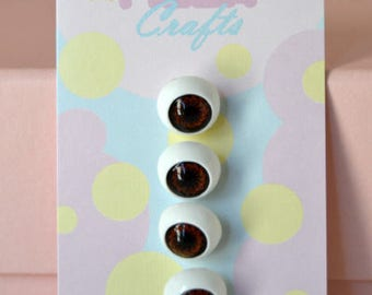 1/2 Inch Eyeball Shank Buttons: Style 5 *AS IS*