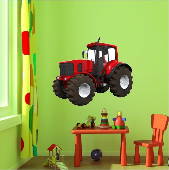 & Tractor Wall Decal Red Tractor Wall Decal John Deere
