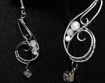 Celtic Moonstone Earrings