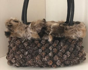 Crocheted wool bag