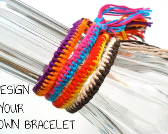 Custom 2-Color Zipper Friendship Bracelet
