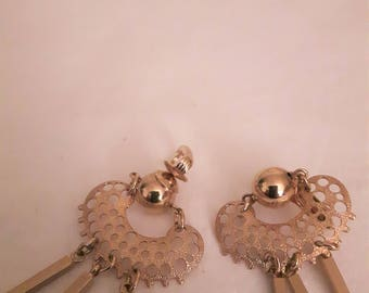 """Vintage Sarah Coventry """"Charisma"""" Earrings - Gold Tone - Loops/Dangles - Clip-on Earrings - 1980s-Wedding/Anniversary/Birthday/Mother's Day"""