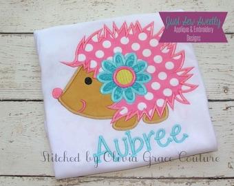 Cute Hedgehog Applique Design - Embroidery Machine Pattern
