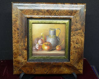 Vintage Oil Painting   Still Life Painting   Mini Painting Picture