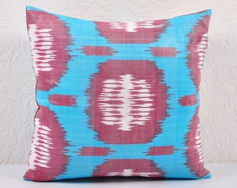 Ikat Pillow, Hand Woven Ikat Pillow Cover 538-1aa1, Ikat throw pillows, Designer pillows, Decorative pillows, Accent pillows