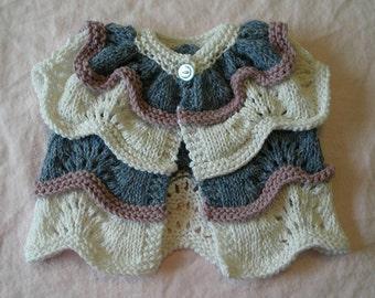 "Baby/child cardigan (""Parfait"") knitting pattern (PDF)"