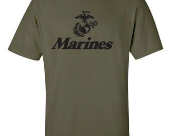 Marine Corps Anchor Globe U.S. United States Marines  Military Men's Tee Shirt 426