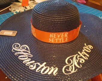 Navy blue Houston Astros Floppy sun hat.