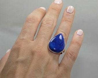 Naatural Lapis Lazuly Silver 925 Ring