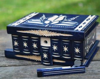 Trick box, Mystery box, Wooden Magic Box, Hungarian secret box, puzzle box, brain teaser jewelry trinket box Budapest box personalized gift