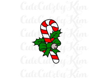 Candy Cane svg, candy cane dxf, candy cane png, Christmas svg, christmas dxf, christmas cricut file, christmas silhouette file