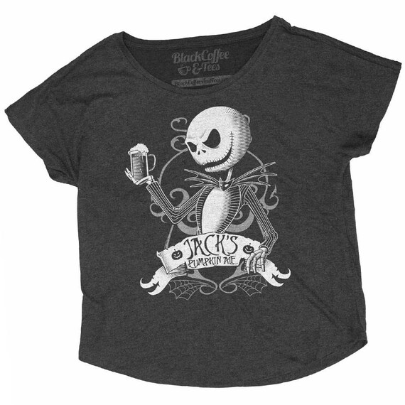 Halloween Shirt! Nightmare Before Christmas Shirt - Jack Skellington Halloween Shirt - Hand Screen Printed on a Womens Dolman