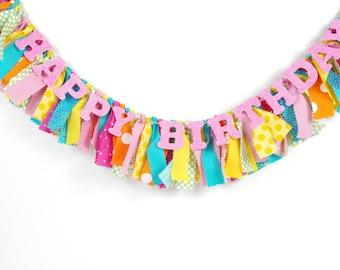 Birthday Party Candy Shoppe Party - Sweet Shop - Candyland - mon petit poney anniversaire - la fille d'anniversaire - Rag bannière - accessoire de photographie