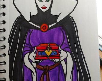 Evil Queen Snow White ORIGINAL Sketch