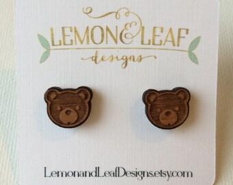 Baby bear earrings, little girl earrings