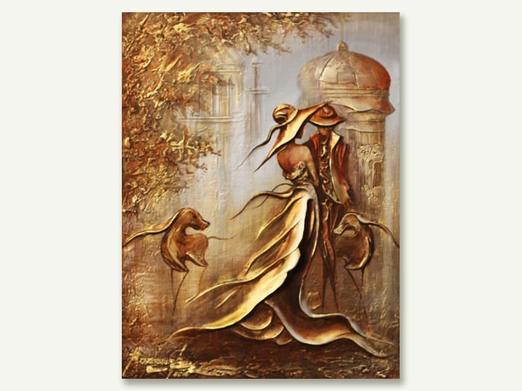 Textured Gold Original Painting Minimalist