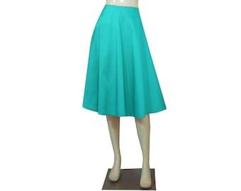 Taffeta Skirt Mint Green Skirt Bridesmaids Skirt Prom Skirt Formal Skirt in Tea Length XS S M L XL
