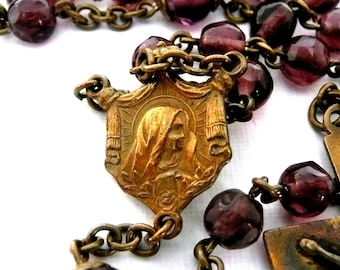 Vintage Brass Rosary
