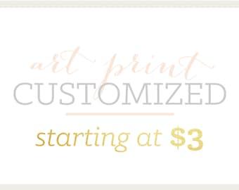 Art Print | Customized