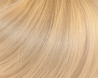 BLEACH BLONDE Human Remy Hair Extensions, Full Head Extensions, Clip In Hair Extensions, Wefts, Real Hair, 100% Human Hair Extensions