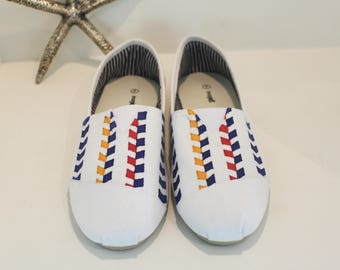 Hand drawn shoes - chevron design