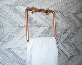 Chic Copper towel holder square ring