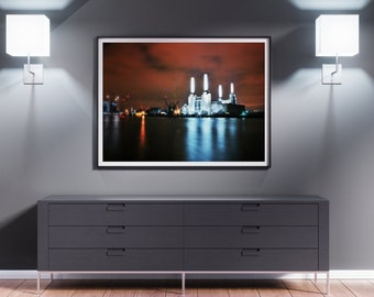 Battersea power station. London, UK Britain. Fine Art. Download high quality Photo. Poster A3 + size.