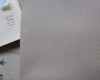 "Cross Stitch Fabric - ""Coffee"" - 28 ct Jobelan Evenweave Linen Premium Fabric by Wichelt Imports"