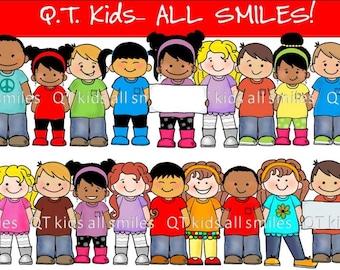 CLIP ART -  QT Kids - All Smiles for Brooke