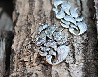 Antique Silver Paisley Earrings